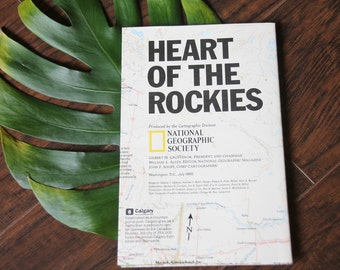 Vintage 1995 Map of The Heart of The Rockies - National Geographic