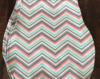 Spring angles burp cloth
