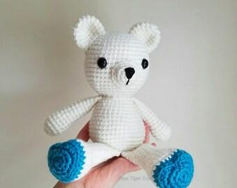 Crochet White Teddy Bear
