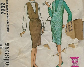 McCall's 7232   Misses  Jumper and Blouse    C1964  Size 14