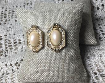 Large Pearl Romantic Earrings