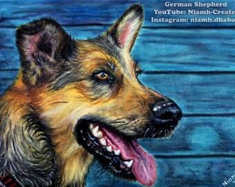 "Original Art- ""German Shepherd"""