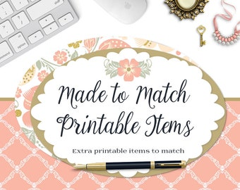 Printable Items-Made to Match Premade Sets in the Shop-For Previously Purchased Sets-Or Add On to a Customized Set-Vistaprint Printables
