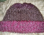 Handmade knitted thick large adult winter hat FUNDRAISER