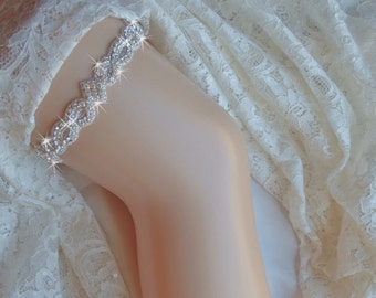 Crystal Garter, Wedding, Rhinestone Garter, Wedding, Garter, Wedding Garter, Wedding Garter set w/ Crystals,
