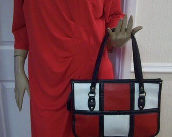 Spilene Authentic Vintage Fab Colour Block Top Handle 60'S Bag
