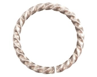 Jump Ring - Grande Rope - Antique Silver - ONE