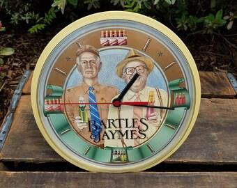 Vintage Bartles and Jaymes Wall Clock