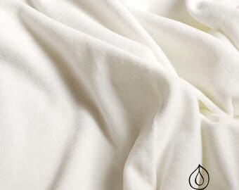 Bio Nicki velvet white. 100% organic