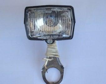 Soviet Black Vintage  Front Dynamo Lamp/Front Dynamo Light / Vintage Plastic Lamp/1970s