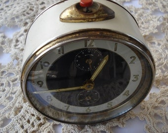 Antique German Alarm Clock Junghans/ Mechanical alarm clock / Collectible clock/ 1960's/Fully Working