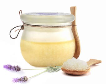 Lavender Body Scrub Salt - Scrub Salt - Dead Sea Salt Scrub - Natural Cosmetics - Scrub - Relaxation - Uplifting - Lavender Cosmetics