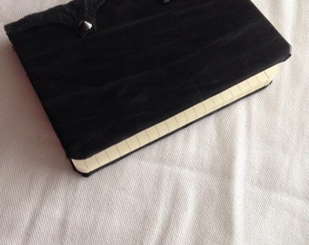 Black leather diary with studs