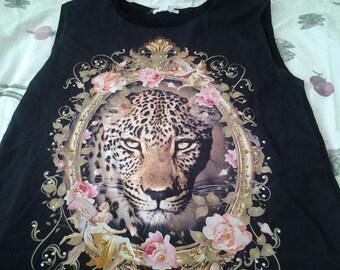 Boho sparkly cheeta tunic Large