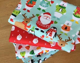 NOVELTY CHRISTMAS Fat Quarter Bundle {A} by Makower Fabrics