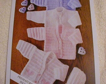 Baby Cardigans And Bonnet Knitting Pattern In 4Ply