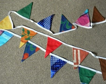 Multicoloured bunting