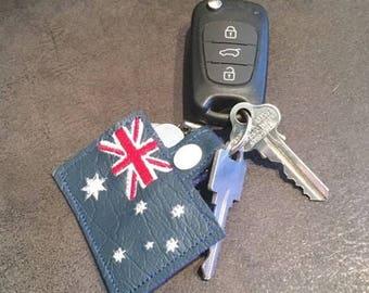 Australia - Flag  - Key Fob DESIGN-  Digital Embroidery Design