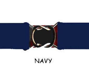 STRETCH-ELASTIC-BELT - Navy Blue * 3-Sizes for Kids & Adults *  Adjustable on Both Sides