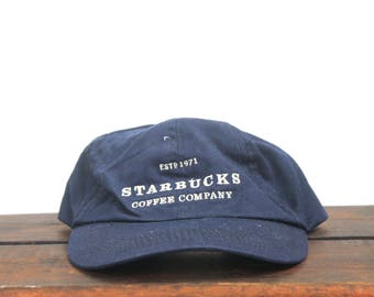 Vintage 90's Starbucks Coffee Company Unstructured Strapback Hat Baseball Cap
