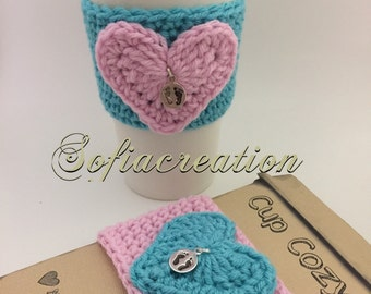 nicu nurse gifts -Coffee cup cozy -Nurse gift -Mommy to be gift-Crochet coffee cozy-