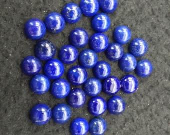 Vintage Lapis Lazuli 8mm Round Cabochons