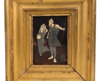 18th century micro-mosaic Mix media painting