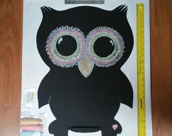 Owl Shaped Chalkboard