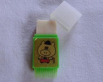 Vintage brush cased scented eraser