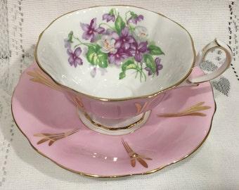 Vintage Queen Anne Fine Bone China Tea Cup & Saucer