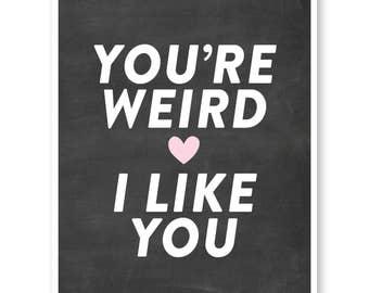 Weird valentine | Etsy