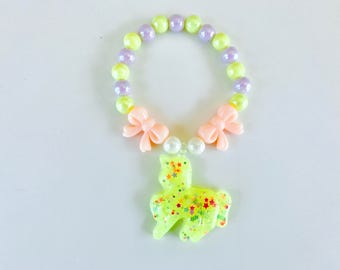 Fancy Unicorn Pastel Kawaii Kandi Singular Bracelet