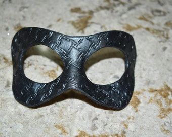 Clearance for old stock - Metal grating look, Steampunk Leather masks - this one available now
