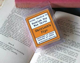Sherlock's Pipe Tobacco Scented Soy Wax Tart. Soy Candles UK, Wax Tarts, Book Candle, Pouch tobacco  Sherlock Candle