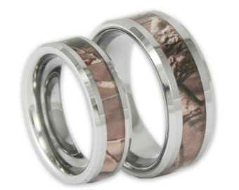 Camo wedding rings Etsy