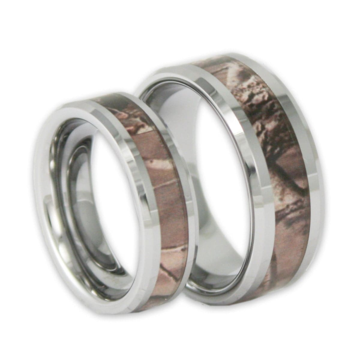 zoom - Camo Wedding Ring Set
