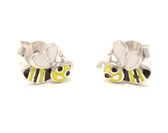 Bee earrings 925 sterling silver