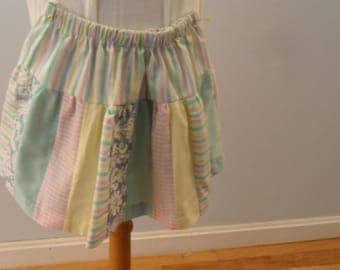 One of a kind patchwork  girl skirt size 4