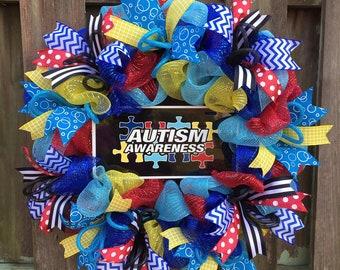 Autism Awareness Wreath, Autism Awareness, Autism Wreath, Autism Gift, Autism