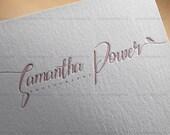 Branding Package, Custom Premade Logo Design Package - modern logo, custom logo design, feminine logo, logo branding, bloggers logo