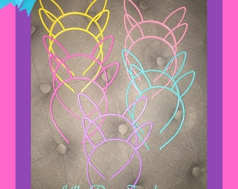 Set of 10 Plastic Bunny Rabbit Ear Headbands Bunny Rabbit Ears Birthday Party Favors Bunny Rabbit Ears Rabbit Bunny Ears Headband Hair Band