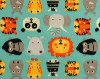 Large Cartoon animals polar fleece Bespoke dog jumpsuit/onesies/pyjamas/coat with organic cotton/hemp cuffs
