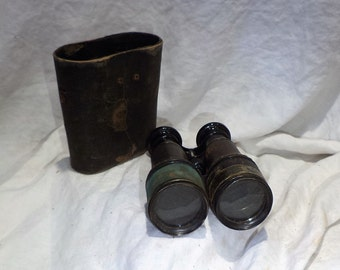 US Signal Corps Binoculars, French Binoculars, Antique Marchand Paris,