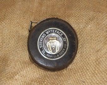 Measuring Tape, Vintage Carpentry or Surveyor's Tool, 50 Foot Keuffel & Esser