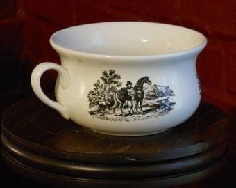 Petite Chamber Pot. Port Meirion Pottery. Stoke on Trent, England