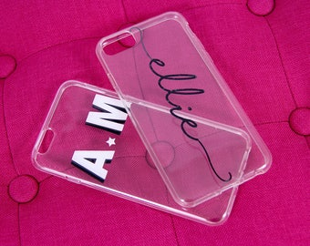 Custom Persoanlized iPhone Case (Clear)