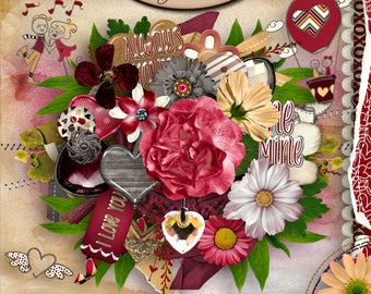 Digital Scrapbooking, Elements, Valentine's Day: Always Yours