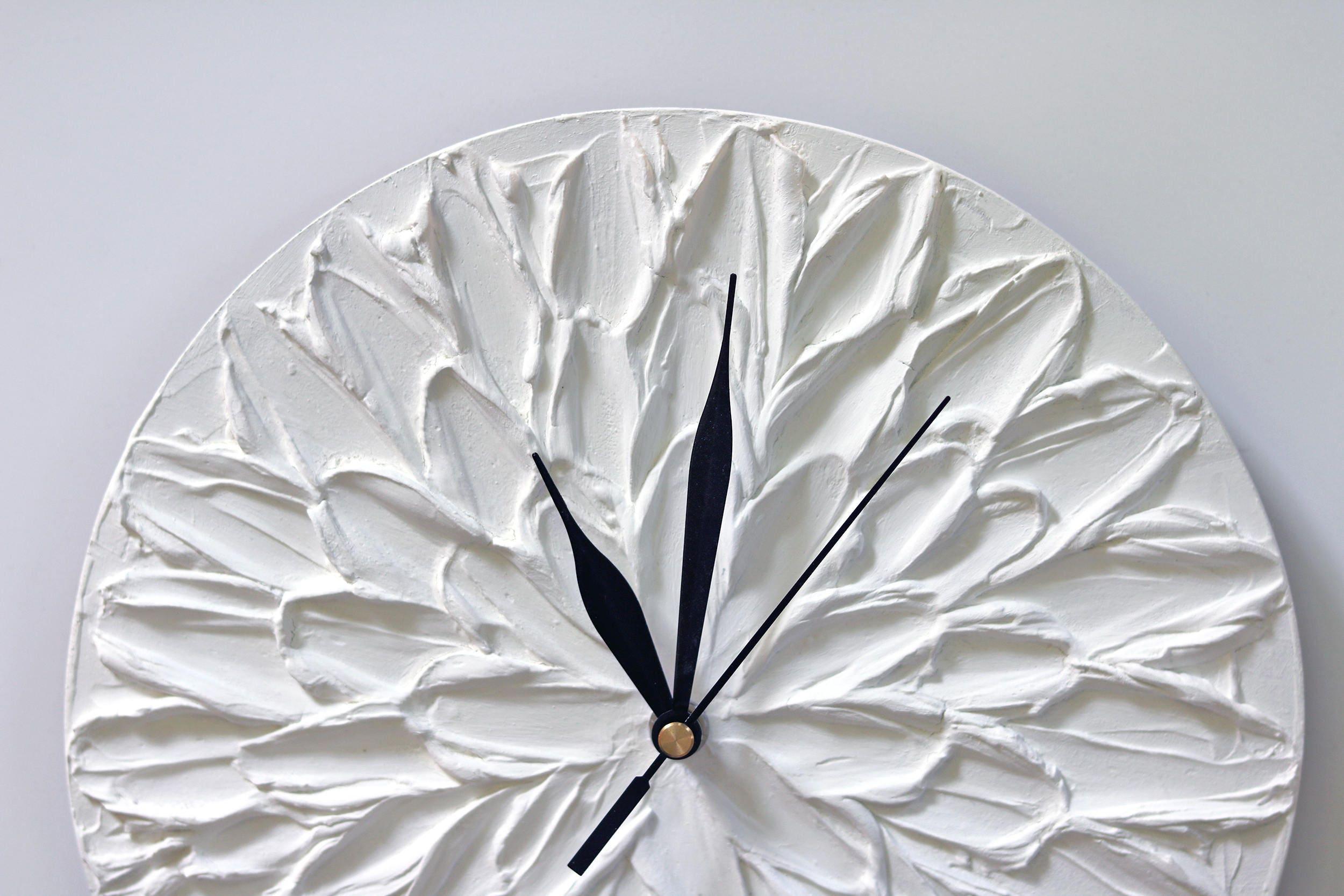 Interesting agrandir with grande horloge murale blanche for Pendule blanche design