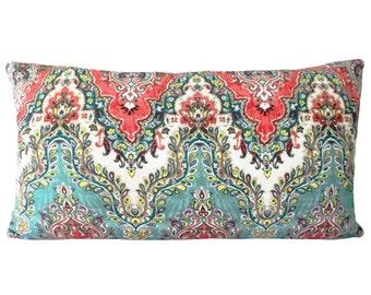 Waverly India Sari Pillow Cover - Throw Pillow - Both Sides - 10x20, 12x16, 12x20, 14x18, 14x24, 16x16, 18x18, 20x20, 22x22, 24x24