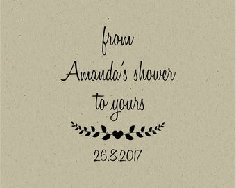 custom rubber stamp - From My Shower to Yours-Custom Bridal Shower Favor -baby shower stamp